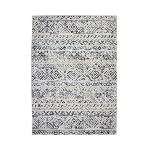 Coppermead Machine Woven Synthetic Ivory/Blue Indoor Area Rug 8' x 10'