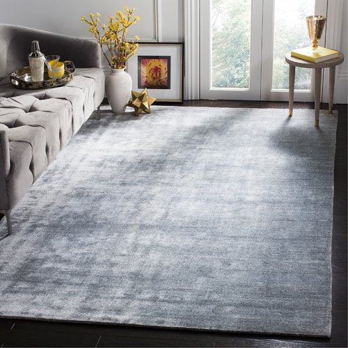 Wald Handwoven Viscose/Cotton Light Gray Area Rug 9' x 12'