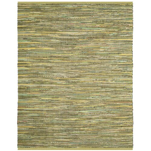 Declan hand-woven light green area rug 5' x 8'