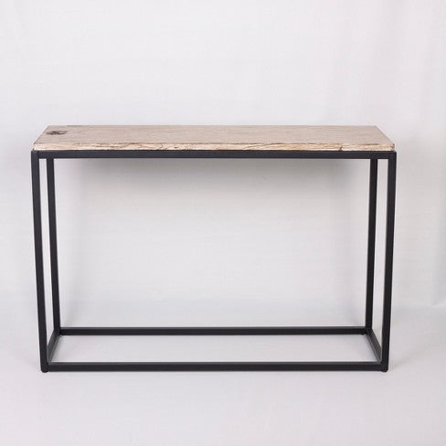 Faux Wood Console Table - Brown - Threshold