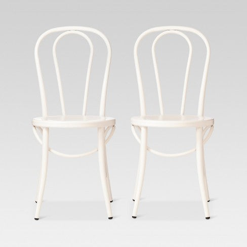 Emery Metal Bistro Chair - Off White (Set of 2) - Threshold