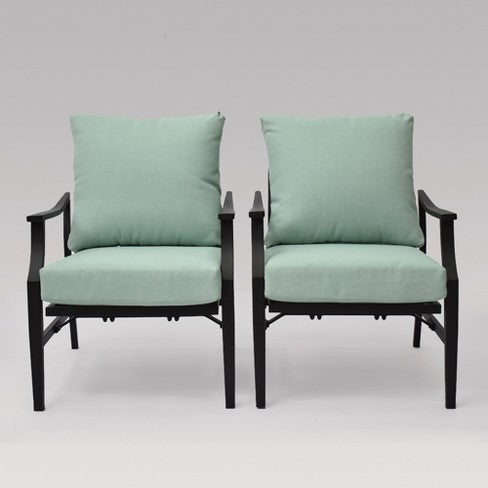 Fairmont 2pk Patio Motion Club Chair Aqua - Threshold