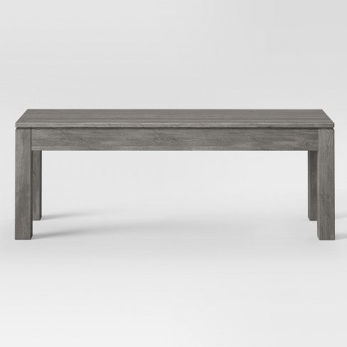 "50"" Grafton Dining Bench Gray - Threshold"