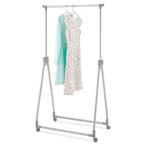 Whitmor Foldable Collapsible Garment Rack - Silver Metal