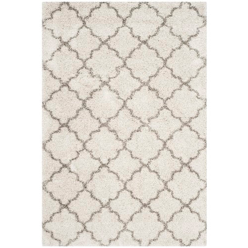 Samira Shag Power Loom Ivory/Gray Area Rug