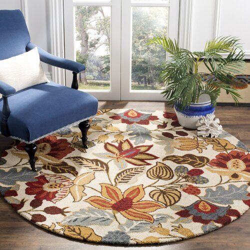 Payne Red/Blue/Green Area Rug 4' Round