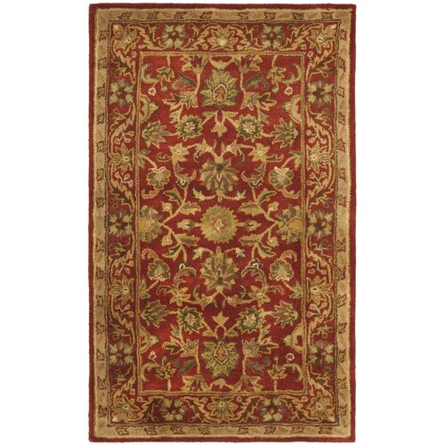 Dunbar Hand-Woven Wool Red/Gold/Green Area Rug