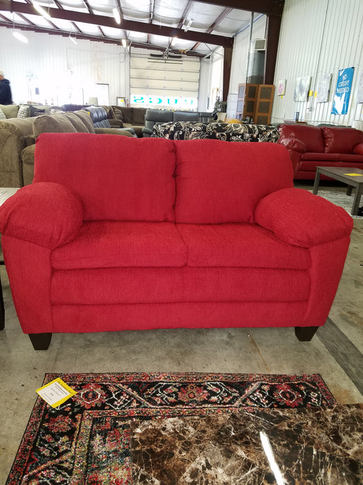 Grady Red Cloth Sofa And Love Seat Set