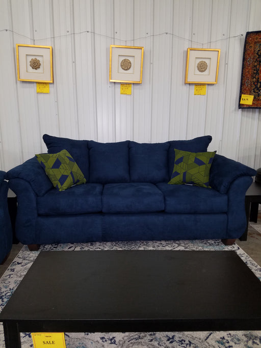 Sensations Microfiber Sofa and Loveseat, Navy Blue