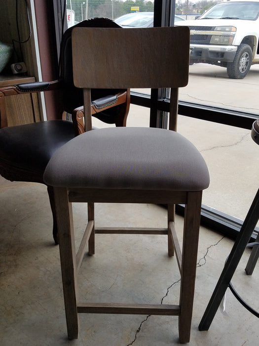 Gray Upholstered Barstool
