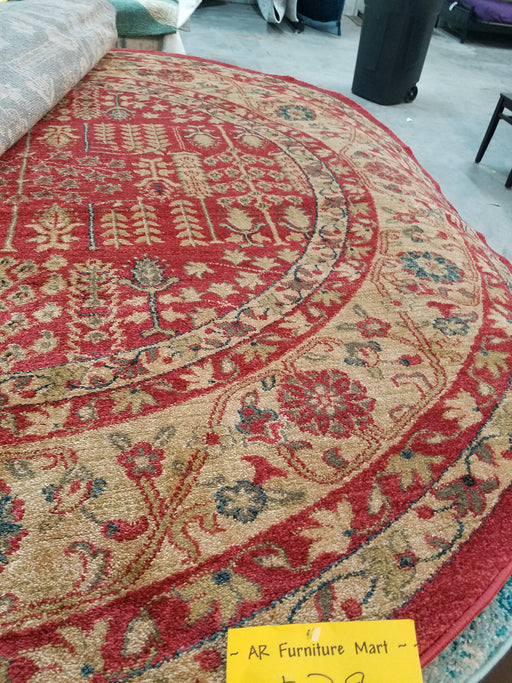 Safavieh Red/Natural Rug 6'7'' Round