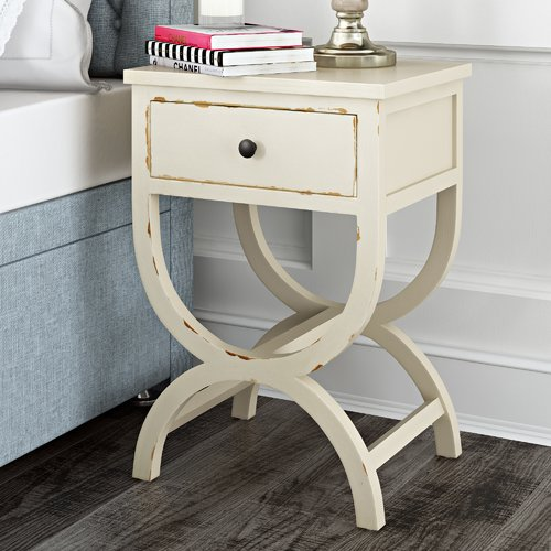 Laverriere End Table With Storage Color: Vintage Cream