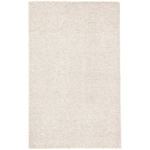 Nehemiah Solid Hand-Tufted Wool Ivory Area Rug 8' x 10'