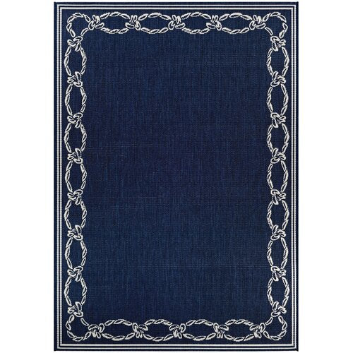"Dillow Rope Knot Blue Indoor/Outdoor Area Rug 3'9"" x 5'5"""