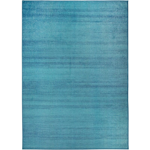 Solid Textured Ocean Blue Indoor/Outdoor Area Rug Size: 3'x5'