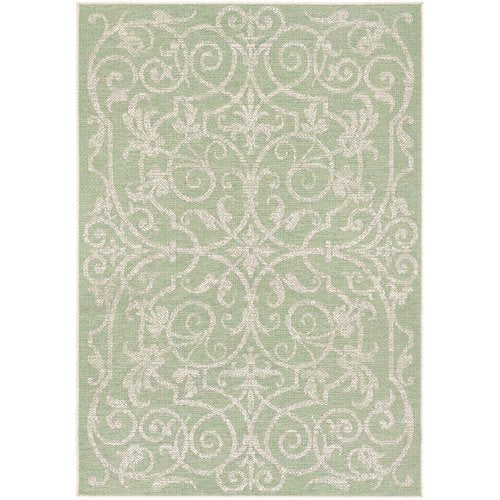 Kempton Ivory/Light Green Indoor/Outdoor Area Rug 7'6'' x 10'9''