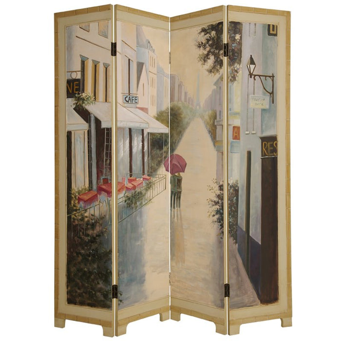 Paris Promenade 4 Panel Room Divider