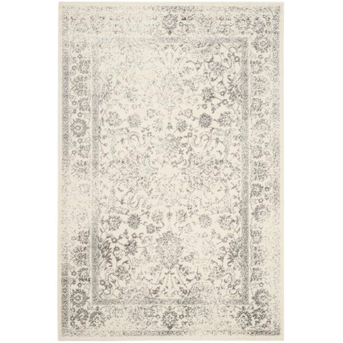 Power Loom Aiken Ivory/Silver Area Rug