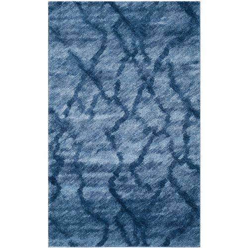 Tenth Avenue Dark Blue Area Rug 5' x 8'