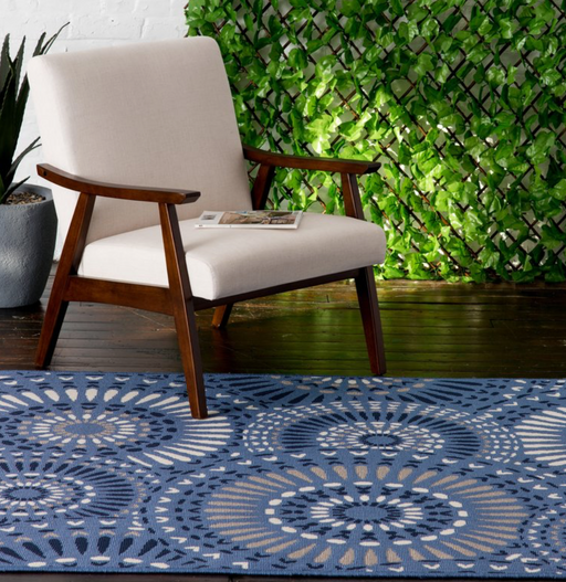 "Vedette Blue/Gray Indoor/Outdoor Area Rug Size: 7'10"" x 9'10"""