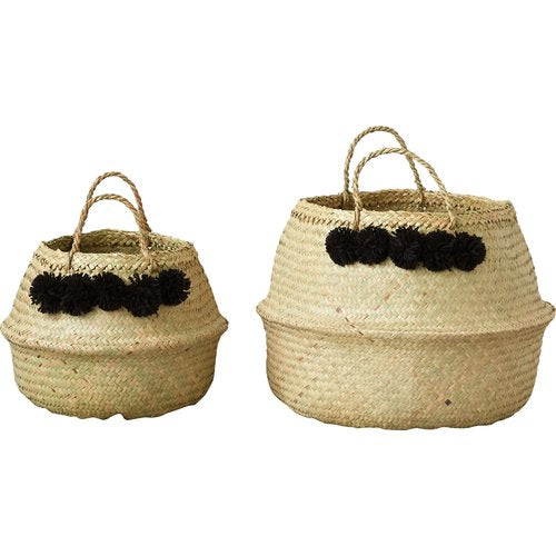 Wicker Collapsible 2 Piece Basket Set