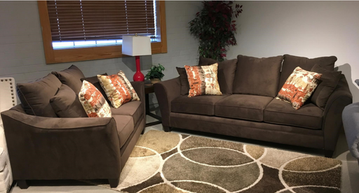 Abbington Chocolate Sofa And Loveseat Set
