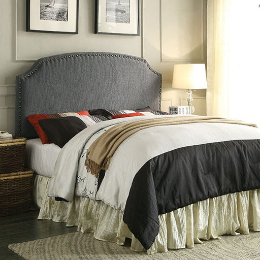 Full/Queen Hasselt Upholstered Headboard with Nailhead Accents - @ARFurnitureMart