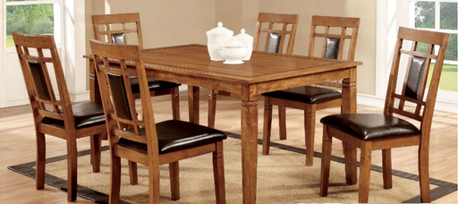 Freeman Oak Dining Table With 6 Chairs