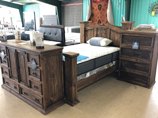 Rustic Mansion Bed Dark - @ARFurnitureMart