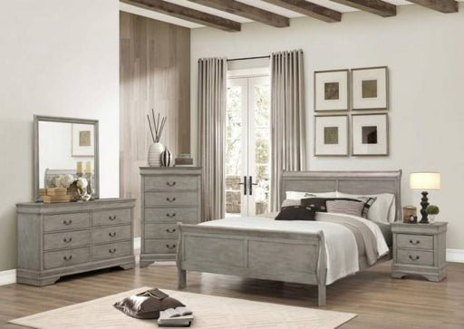 Sleigh Bed, Bedroom Set, Gray - @ARFurnitureMart
