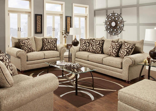 Mix Cafe Cloth Sofa and Loveseat - @ARFurnitureMart