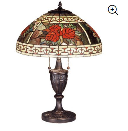 "Meyda Tiffany Roses & Scrolls 25"" Table Lamp"