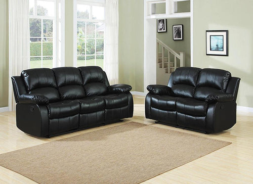 Sierra Reclining Sofa Set, Black - @ARFurnitureMart