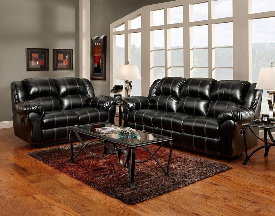 Taos Black Dual Reclining Sofa and Loveseat - @ARFurnitureMart