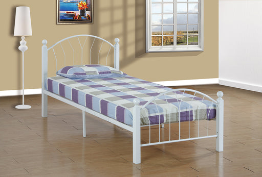 Twin Platform Bed, Ashton, White - @ARFurnitureMart