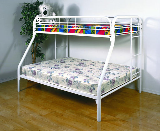 Twin/Full Metal Bunkbed with Mattresses - @ARFurnitureMart
