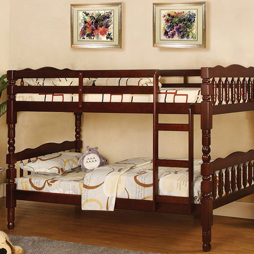 Twin/Twin Bunkbed with Mattresses - @ARFurnitureMart