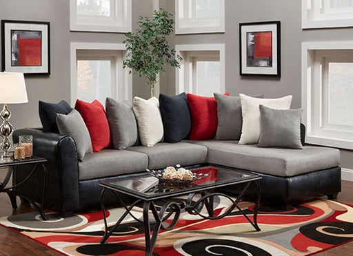 Victory Lane Sectional, Dolphin - @ARFurnitureMart