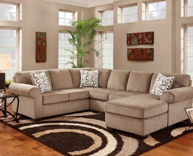Jesse Cocoa Sectional - @ARFurnitureMart