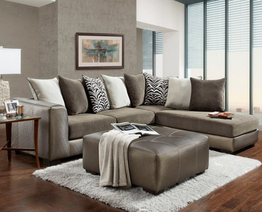 Shimmer Magnetite Sectional - @ARFurnitureMart