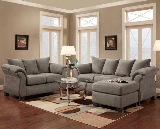 Sensations Grey Sofa/Chaise - @ARFurnitureMart