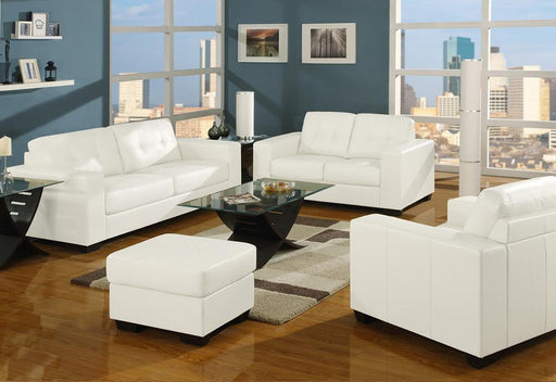 White Sedona Sofa and Loveseat
