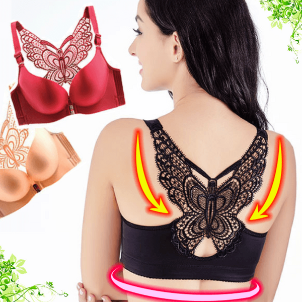 Butterfly Embroidery Wireless Bra