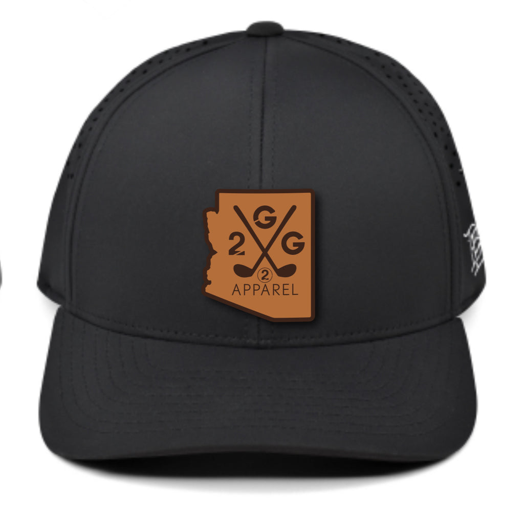 Performance Hat - Arizona Leather Patch - 2GG Apparel