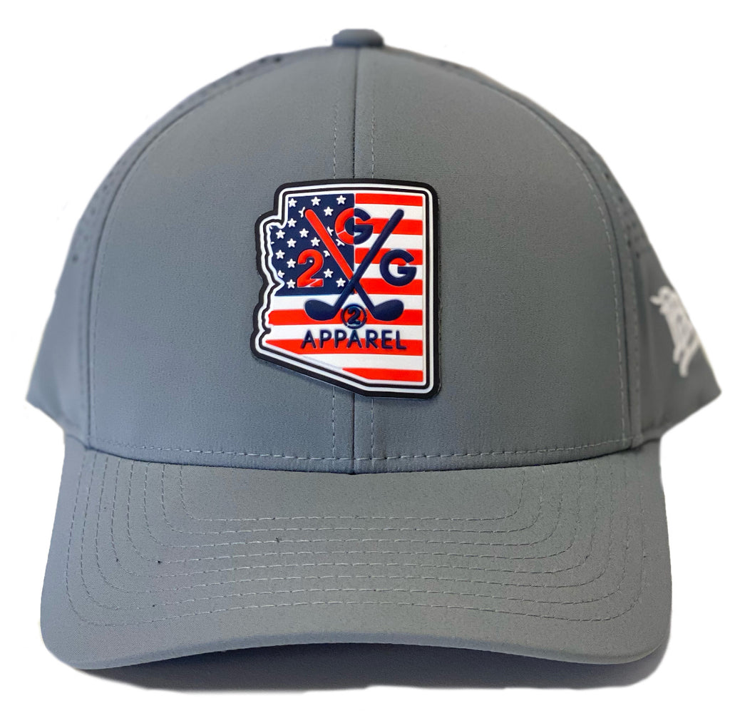 Performance Hat - Arizona USA Rubber Patch - 2GG Apparel