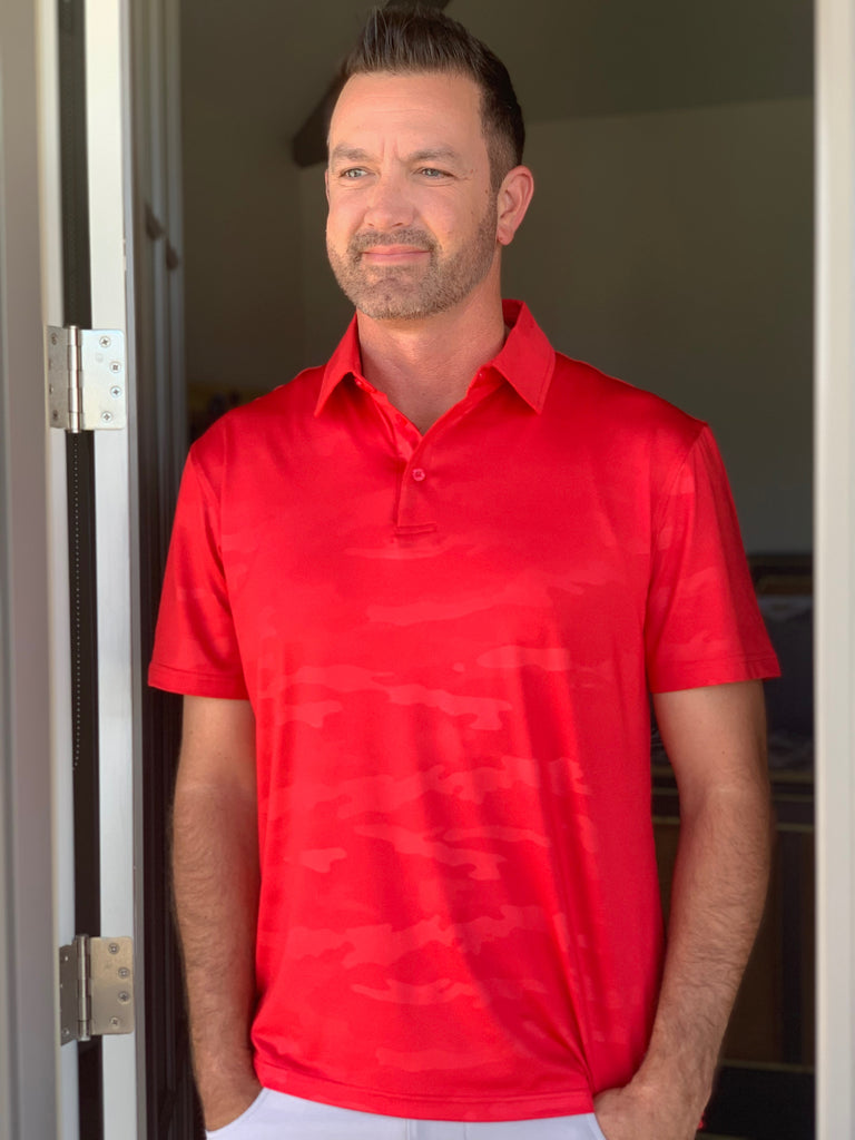 CAMO POLO - RED - 2GG Apparel