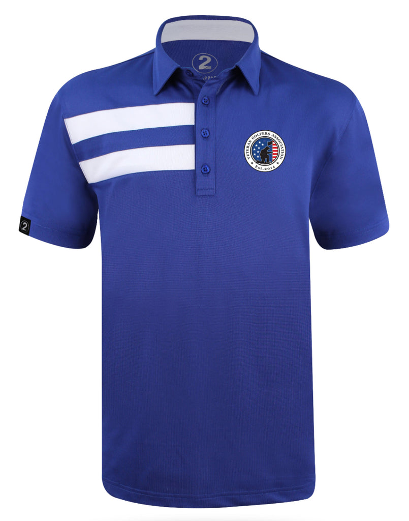 VGA 2 STRIPE MEN'S POLO - 2GG Apparel