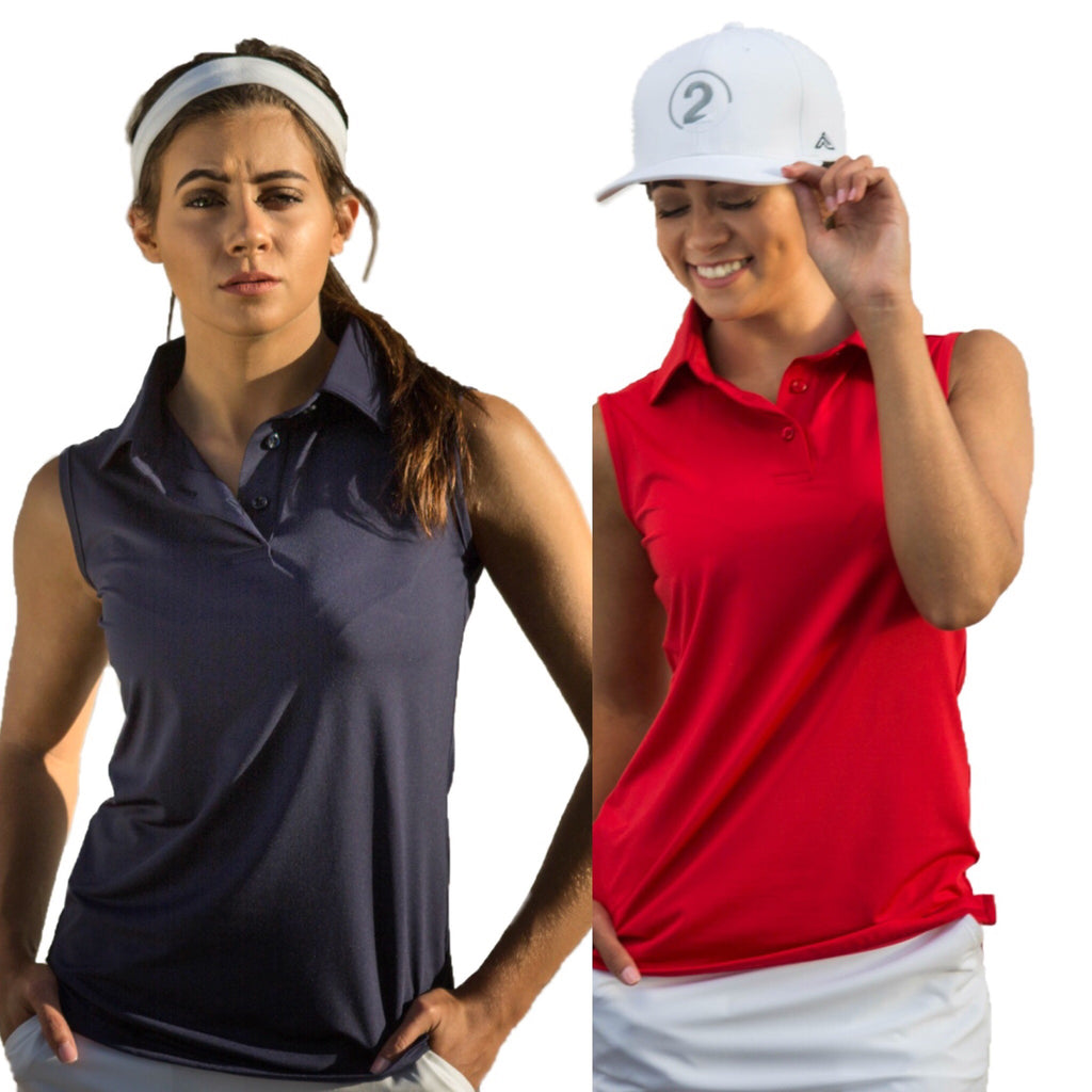 SLEEVELESS POLO - 2 Available Colors - 2GG Apparel