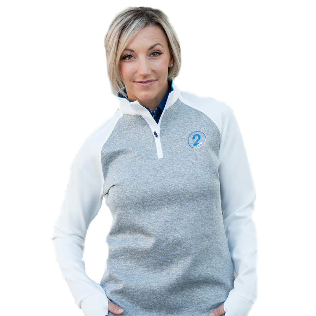 1/4 ZIP HEATHERED PULLOVER-2 Available Colors - 2GG Apparel
