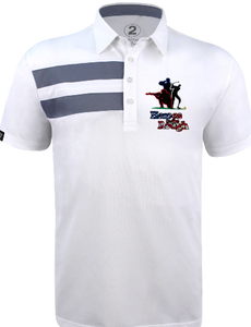 HEROES IN THE ROUGH MENS 2 STRIPE POLO - 2GG Apparel